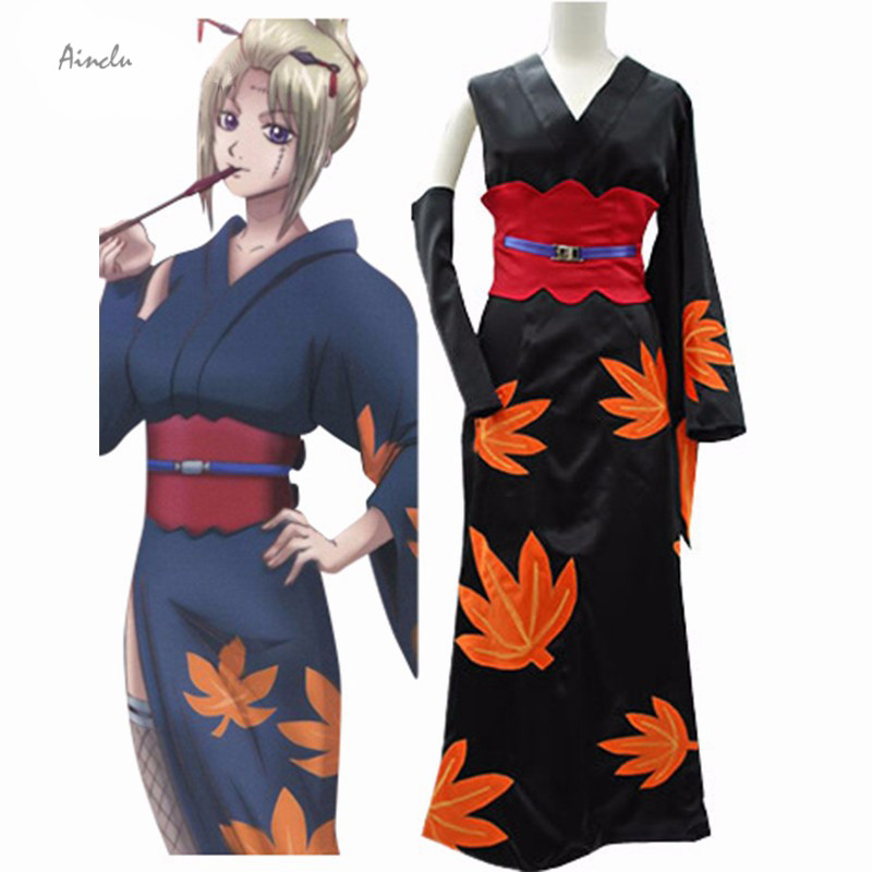 Ainclu Free Shipping New Anime Costume Tsukuyo Cosplay Kimono Anime Gintama Cosplay Costume For Kids and Adult