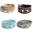 Artilady bracelet for women wrap leather bangle charm leather bracelet women jewelry dropshipping