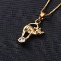 New style Fashion Jewelry Gold Plated Luxury Long Choker Necklaces & Kitten Pendants for Women Femme and Girls Best Gift Friend
