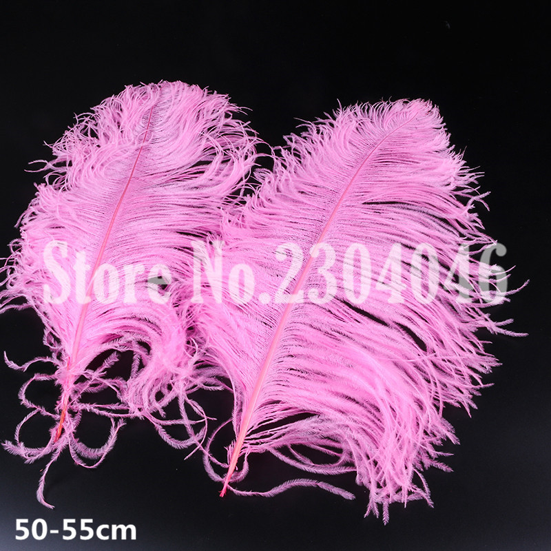 10 high quality beautiful 50 to 55 cm (20-22 inches) ostrich feather fashion hair dyed p ...