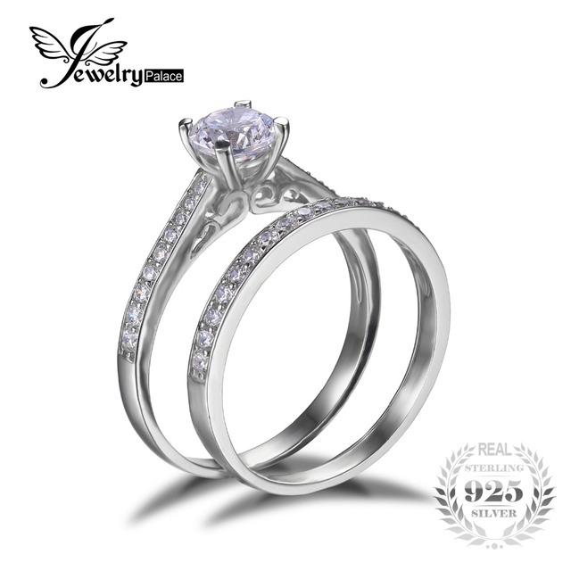 100% Pure 925 Anel de Noivado Casamento De Prata Define Nupcial New Fshion Jóias Anel Amante Define para o Casamento