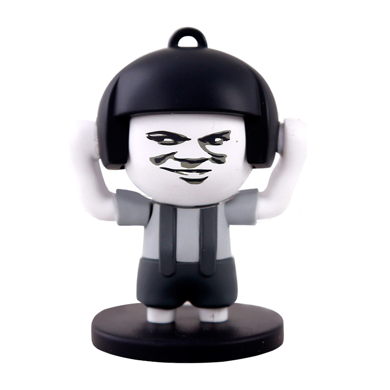 Tricks Toy Mushroom Head Face Changing Toys 4 styles Face Replacement Funny Expression Trend Anti-stress Key Chain