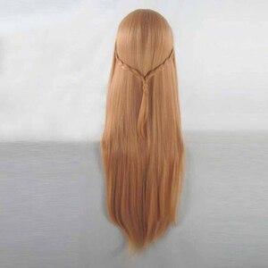 Image 3 - Anime Sword Art Online Yuuki Asuna peruk SAO Yuki Asuna uzun turuncu isıya dayanıklı sentetik saç Cosplay peruk + peruk kap