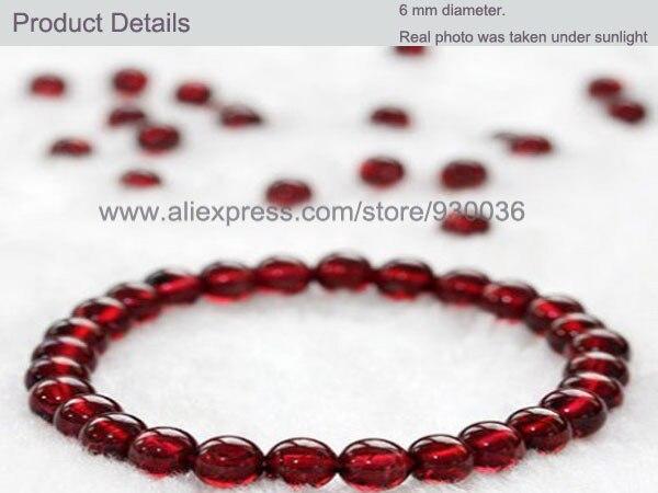 Роскошные AAA Класс красный гранат браслет, очарование бисером Браслеты, здоровый Braclets для Для женщин Для мужчин ювелирные изделия