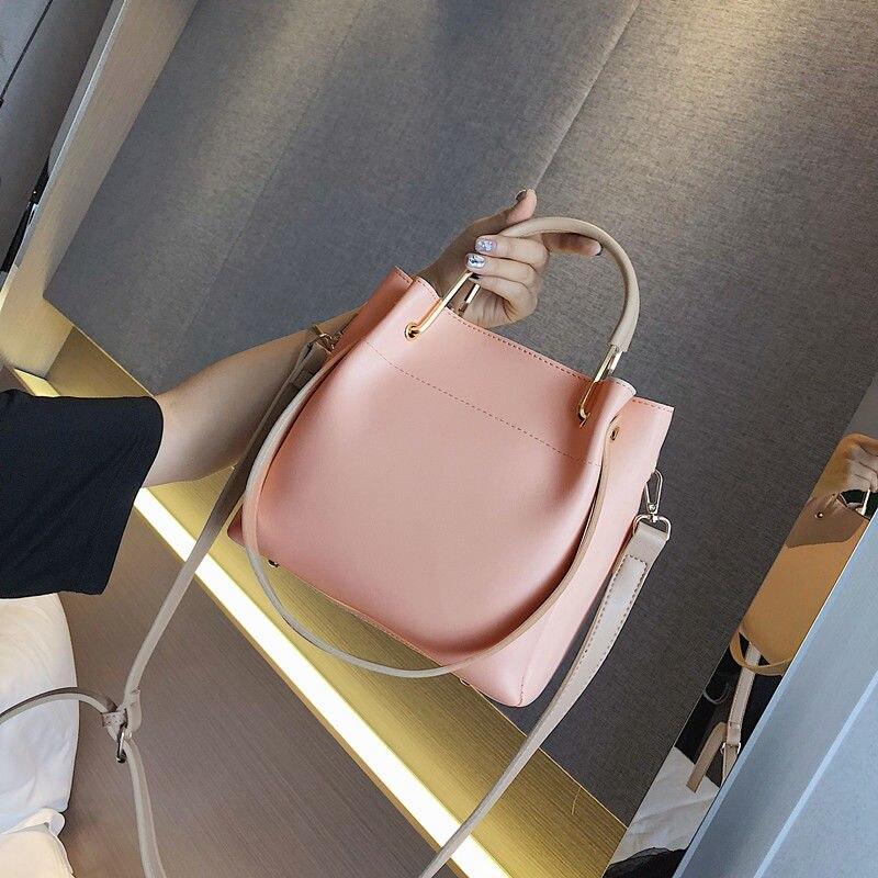 black white Solido Del Lusso Portatile Sacchetto Elaborazione Casual Pink Acquisto Grande Spalla Colore Messaggero Delle khaki Donne Di Dell'unità Modo 0HWpTwSq54