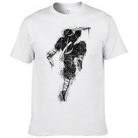 2018 Cool Ink painting Ninja Samurai Printed T shirt Summer Fashion guo