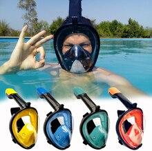 2019 Полное Лицо Маска для подводного плавания панорамный вид анти-туман Анти-утечка плавание трубка акваланг подводный дайвинг маска GoPro Совместимость