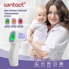 Детский Лоб Инфракрасный термометр с функцией оповещения о жар, 3 в 1 Цифровой Медицинский Инфракрасный красный термометр для поверхности от 0 до 100 ℃