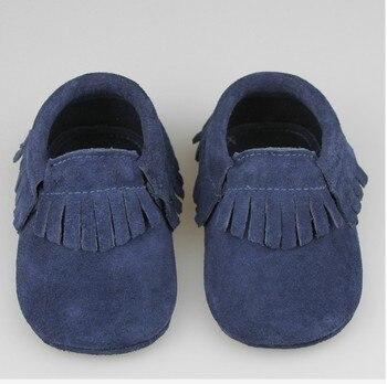 10 цвета Из Натуральной Кожи Новорожденных Замши Детские Младенческая Малышей Мокасины Soft Moccs Детская Обувь Малыш Мягкой Подошве нескользящей Prewalker обувь