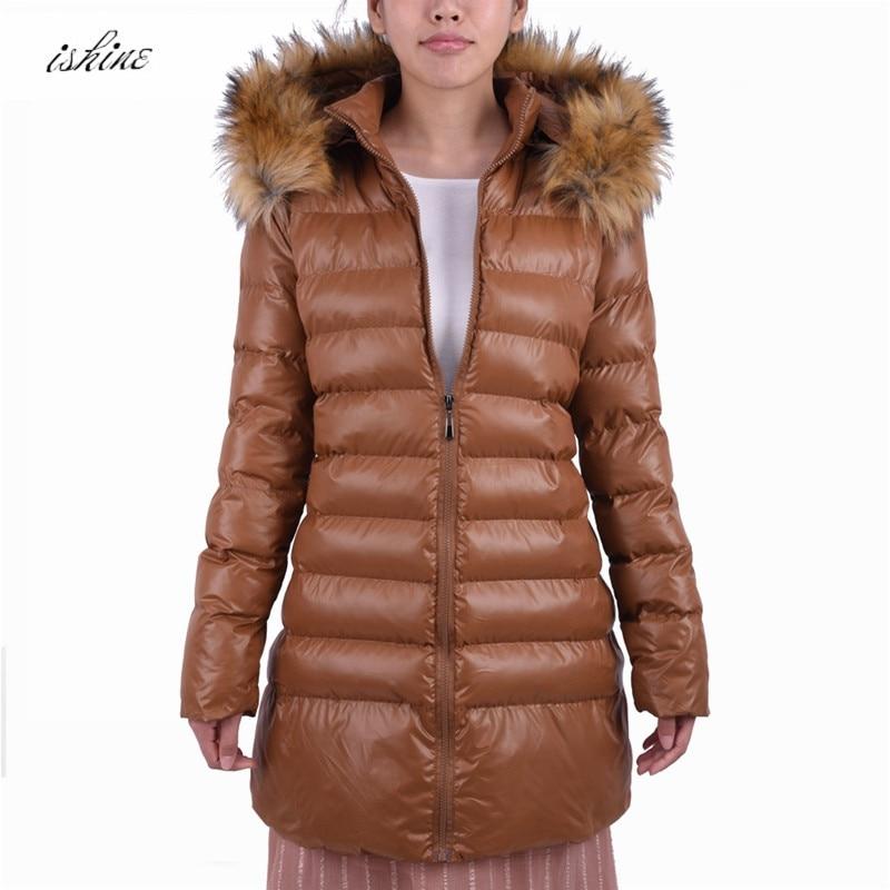 Jacke Weiblichen Mantel Us41 Fell Kapuze Schwarze Thick 1 Oversize 2017 Baumwolle Gefütterte 77 Winterjacke Lange Stück Frauen 32Off Parka 4L3RjqAcS5