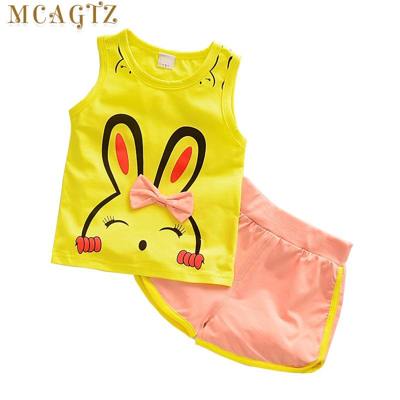 2017 Fashion Spring Baby Clothing Sets Children Boys Girls Kids Brand Sport Suits Tracksuits Cotton Short + Pants 2pcs