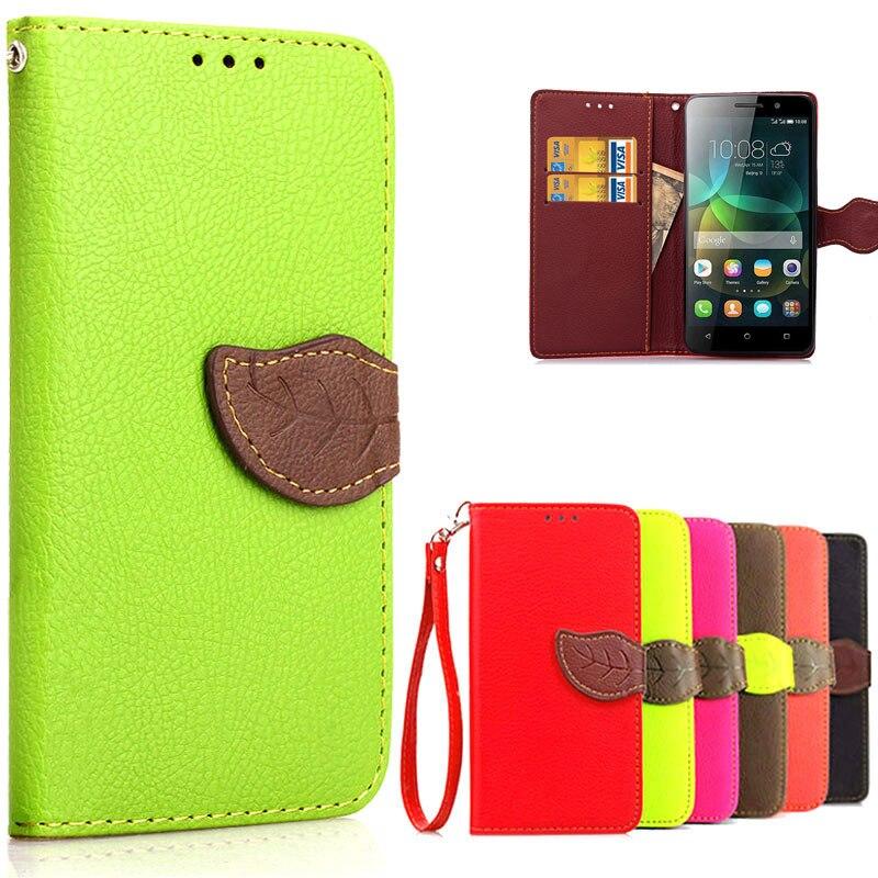 new style ad462 d514e Cas de luxe Pour Huawei Honor 4C Cas Flip PU Housse En Cuir de Pochette  Carte Slots Honor4C Stand Couverture de Téléphone Coque