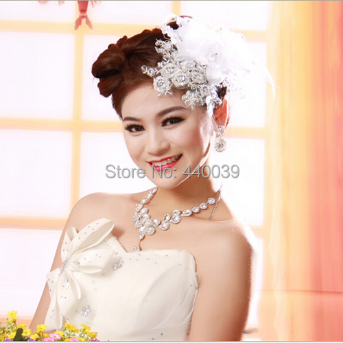FW26  Magnificent Flower Rhinestone Bridal hair Accessories wedding Hat tocados para novial  Fascinator Headpiece Bridal Hats