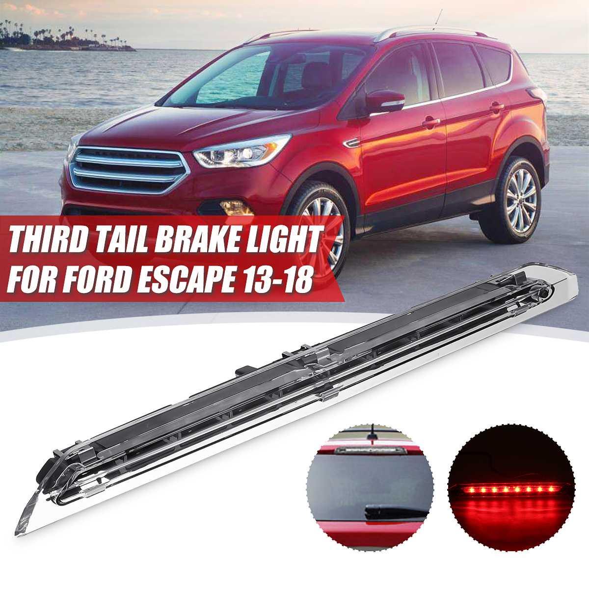Voiture LED troisième 3rd feu de frein arrière Cargo lampe queue Stop lumière Bar pour Ford Escape 2013 2014 2015 2016 2017 2018