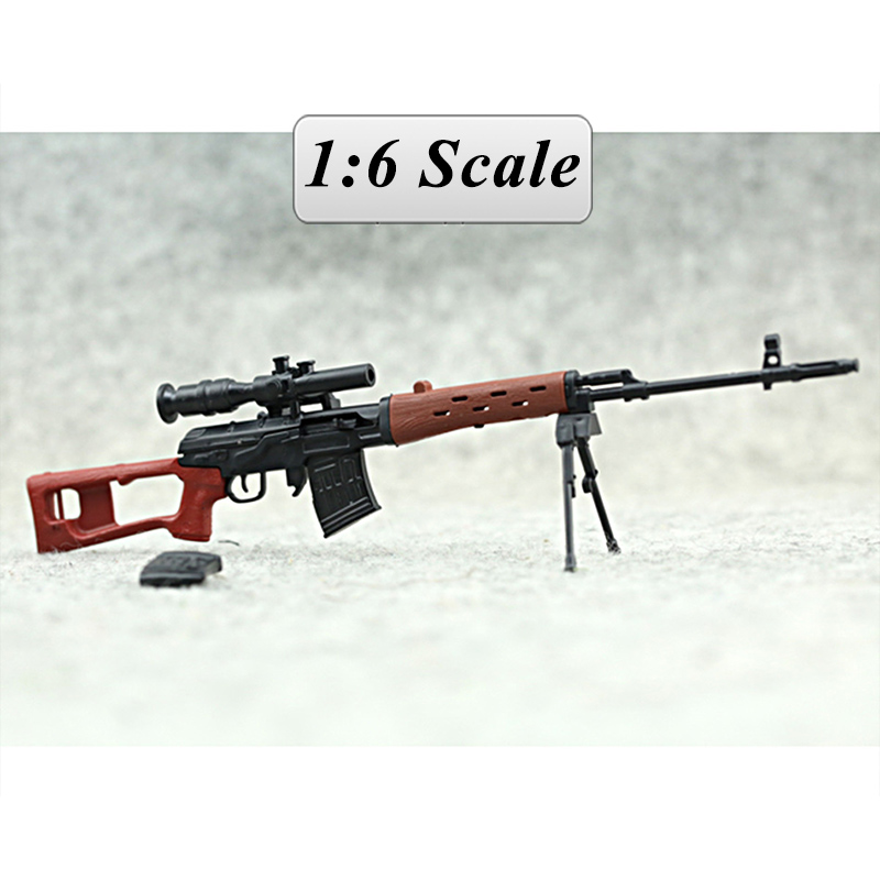 SVD Sniper Rifle Weapon Gun For 1/6 Scale12 Action Figure 1:6 Model Toy for 1/100 Gundam Can Use Free shipping Christmas gifi 1 6 scale metal color cheytac intervention m 200 sniper rifle weapon model toys zy15 11 for 12 action figure accessories