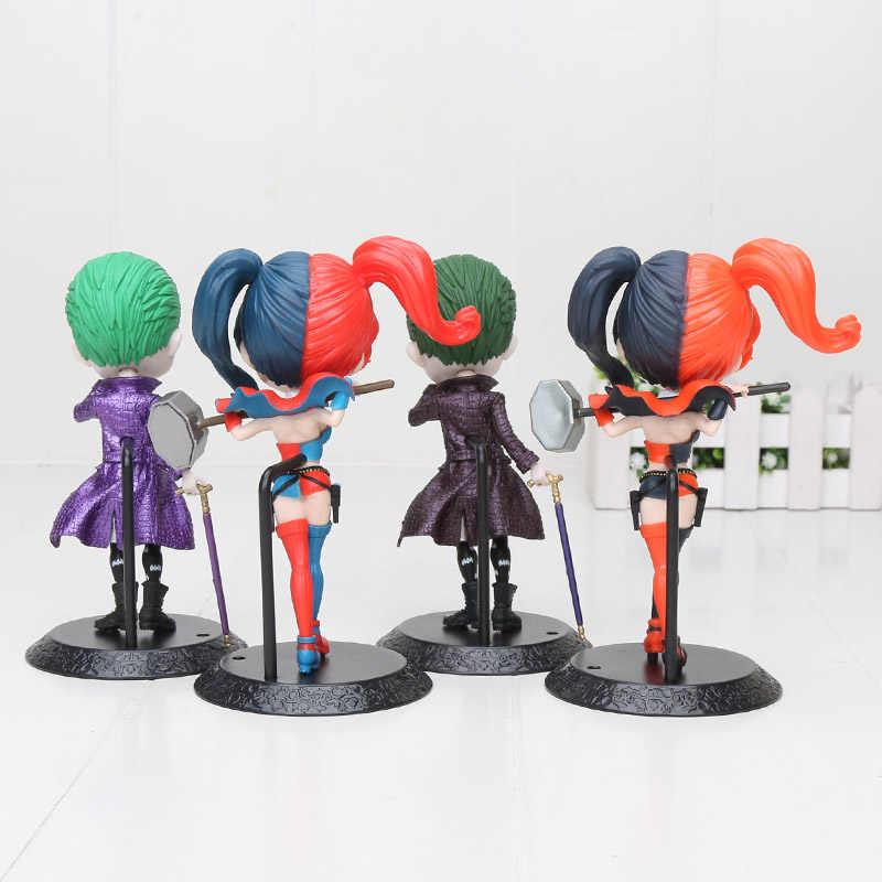 14 Cm Q Posket Skuad Bunuh Diri Sosok Mainan Harley Quinn Joker Catwoman PVC Model Mainan