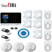 SmartYIBA 3G WiFi GPRS ALARM SYSTEM SECURITY HOME Motion Sensor Alarm with Siren Remote Control Wireless DIY Home Alarm System|Alarm System Kits|   -