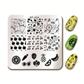 BORN PRETTY Fruit Design Cherry Nail Art Stamp Template 6*6cm Square Manicure Nail Art Image Plate BP-X04