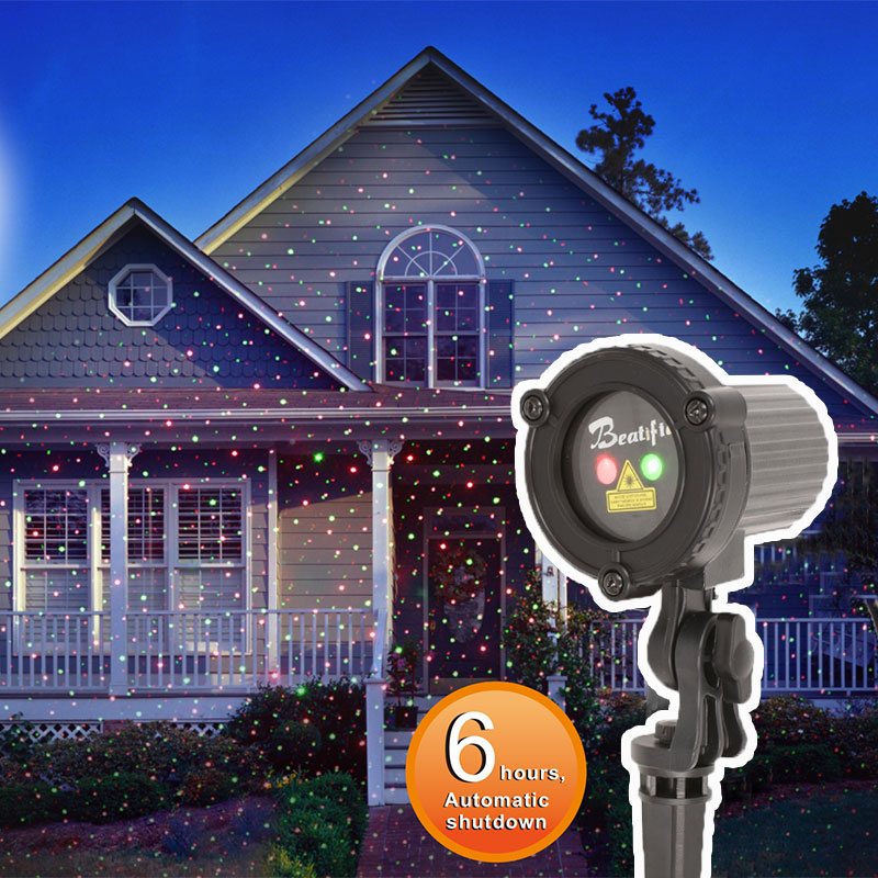 2017 Star Products Outdoor Christmas Laser Lights Showers Projector Decorations For Home Red Green Static Top Waterproof IP44 laser shower waterproof outdoor laser light projector christmas holiday twinkling star lights garden decorations for home