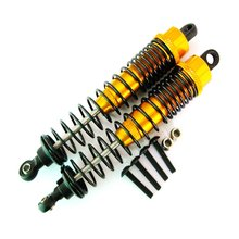 1 pair 70Mm 1/16 Remote Control Car Four-Wheel Drive Truck Front And Rear Metal Shock Absorber Hardware Accessories
