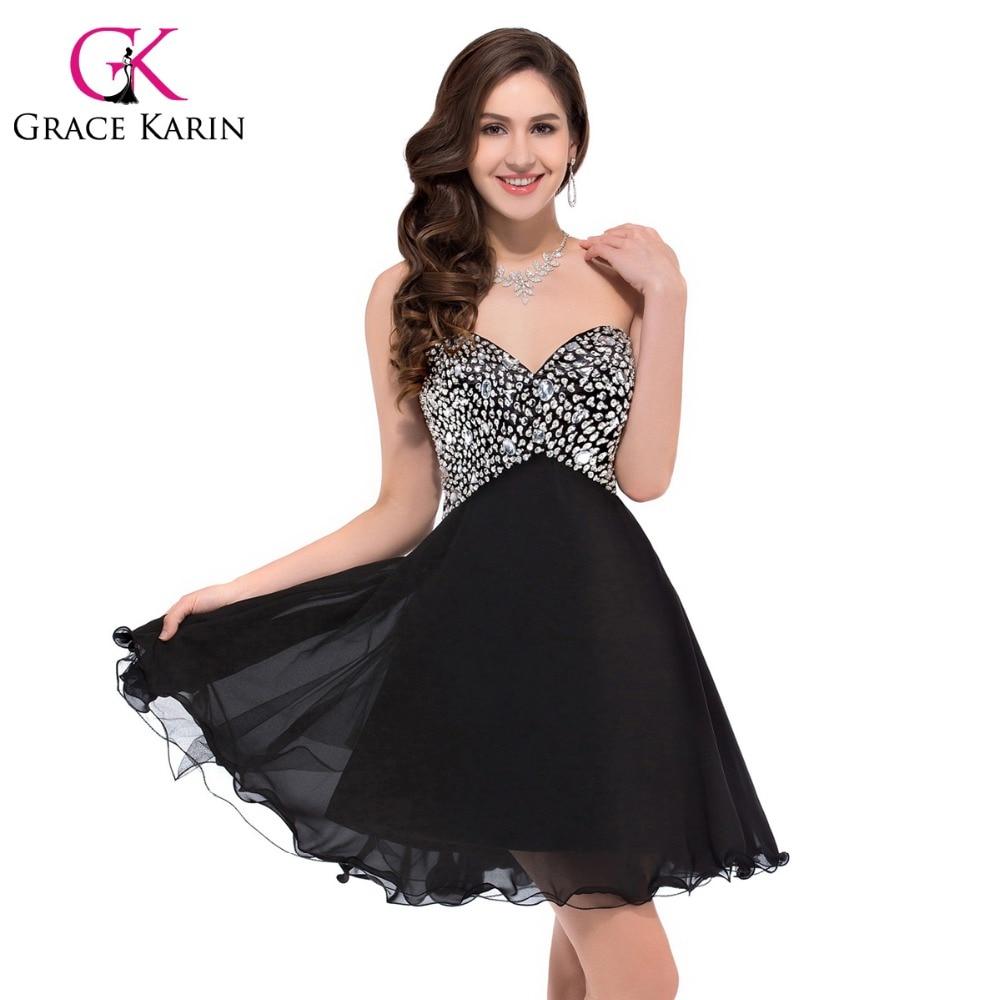 Black and White Short Prom Dress