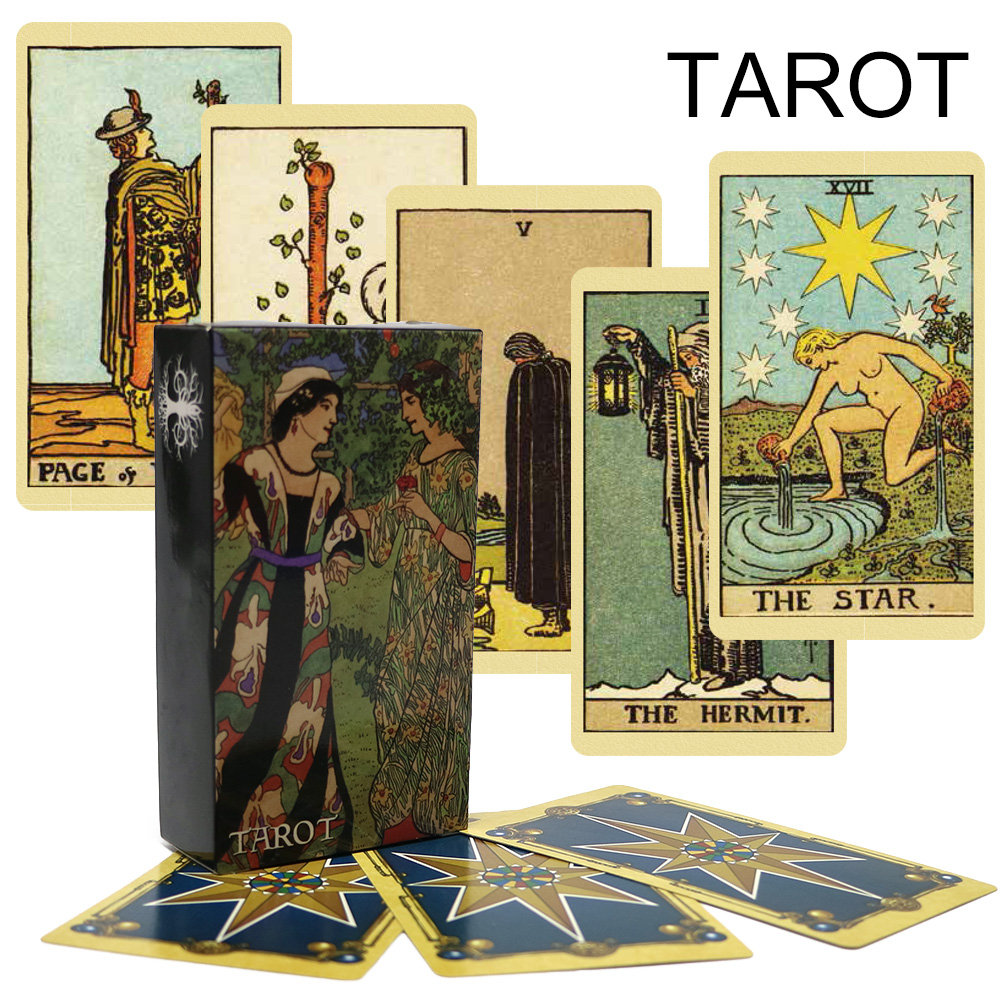 2018 High Quality Smith Tarot Deck Cards Game For Divination Full English Radiant Rider Wait Tarot Cards Board Game