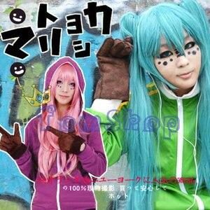 Image 5 - Costume Cosplay Anime Vocaloid matriyoshka Miku Len Rin Gumi, veste à capuche unisexe, manteau à fermeture éclair à capuche