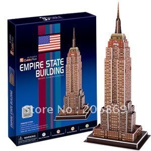 CubicFun 3D puzzle paper model New York Empire State Building C704H Edition DIY toy world's great architecture child creat gift series s 3d puzzle paper diy papercraft double decker bus eiffel tower titanic tower bridge empire state building
