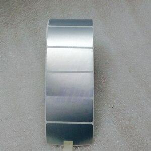 Image 2 - シルバー Pet ラベルステッカー 65*35 ミリメートル 1000 個/ロール防水 Tearproof 耐油製品ラベルシリアル番号固定資産ラベル