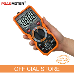 Image 3 - Official PEAKMETER Digital Multimeter PM18C with True RMS AC/DC Voltage  Resistance Capacitance Frequency Temperature NCV Tester
