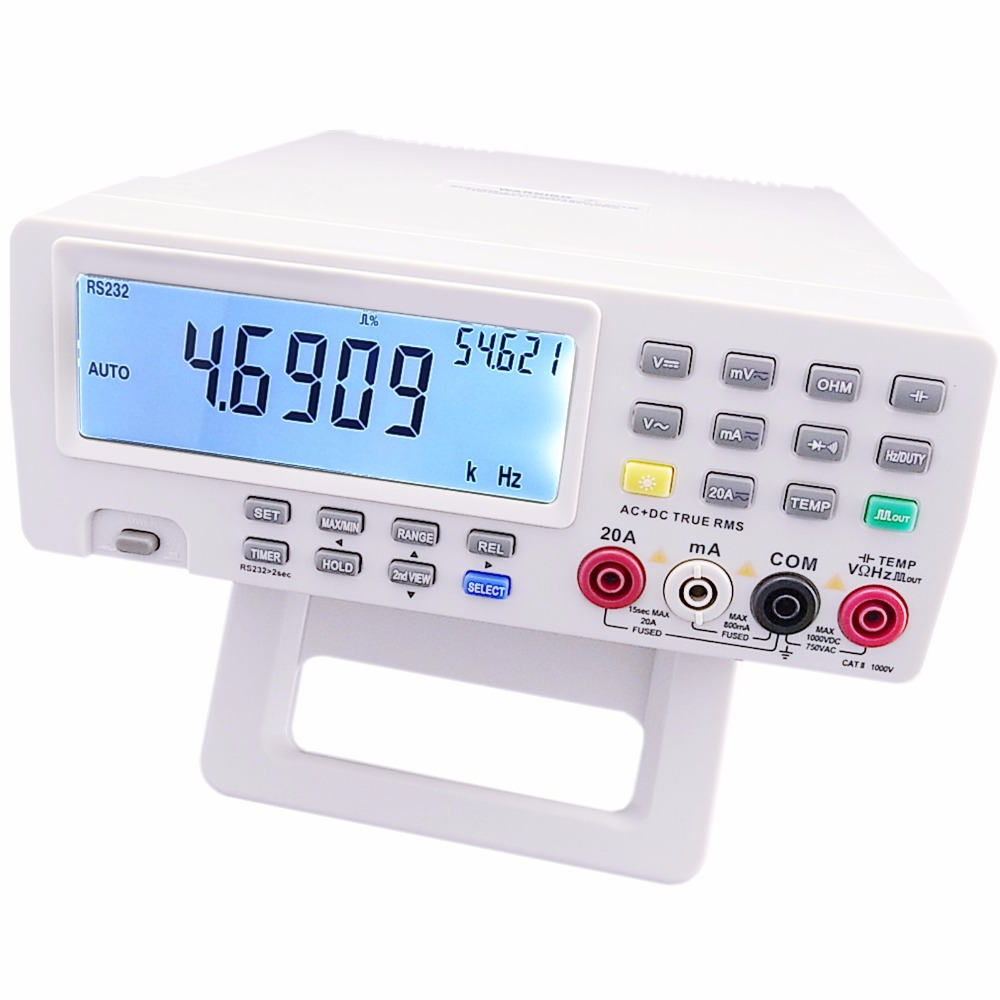 VICHY VC8145 DMM Digital Bench Top Multimeter Temperature Meter Tester PC Analog 80,000 counts Analog Bar Graph w/ 23 segments