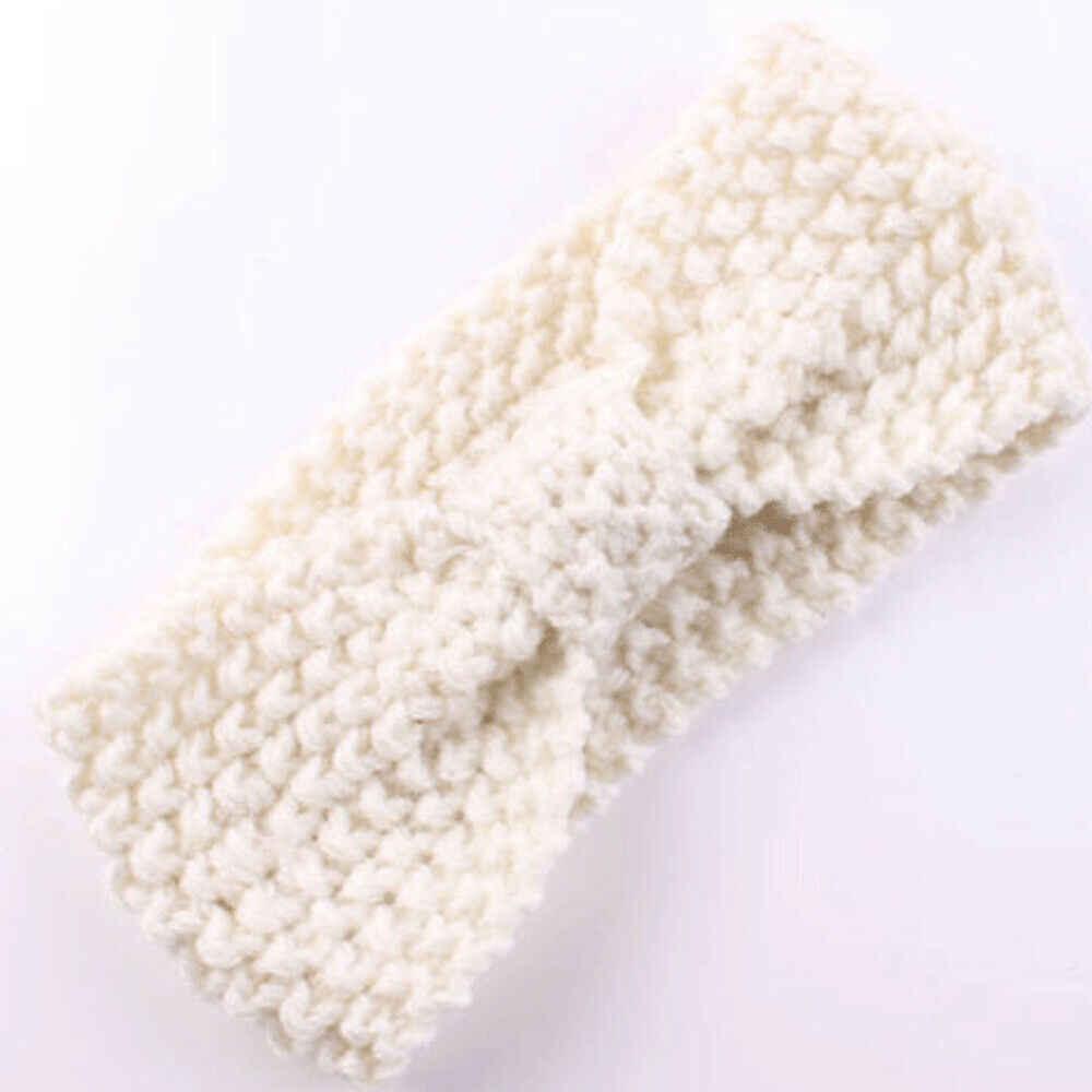 1 ADET Kış sıcak Kulak Isıtıcı Headwrap Noel Kız Tığ Kafa Örme Yay Hairband saç bandı Aksesuarları