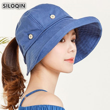 99bb3aac8dd SILOQIN Summer Adult Women s Hat 2018 New Style Removable Top Big Brim Sun  Hat UV Resistant