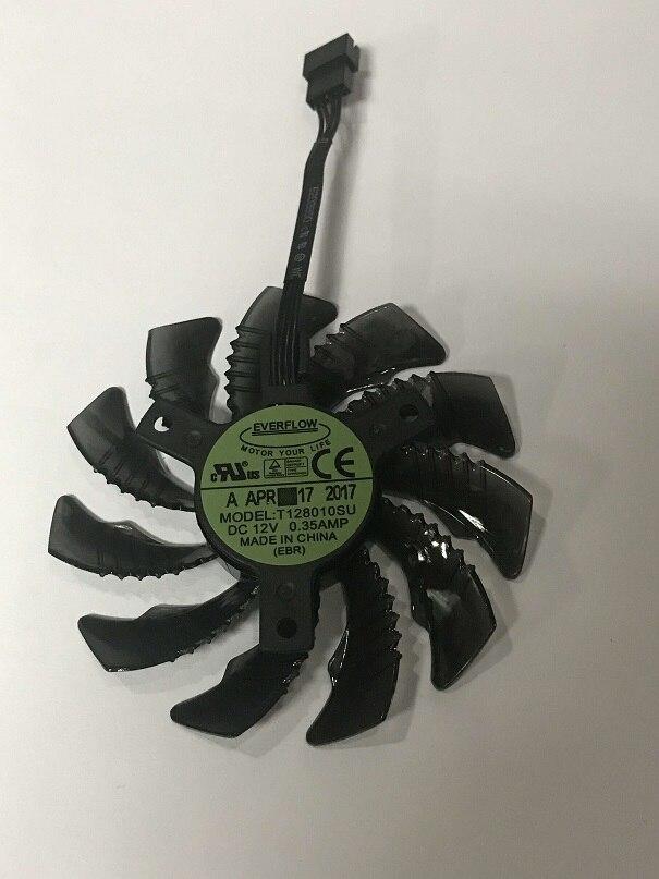 Nuevo original 75mm T128010su 12 V ventilador gigabyte GTX1050 1060 1070 1080 G1 N960 N970 tarjeta gráfica 4Pin refrigerador fansv