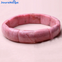 Fine Pink Peach Natural Stone Bracelets Hand Row for Women Girl Friend Gift Sweet Single Lap Crystal Bracelet Jewelry