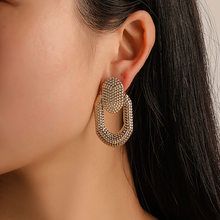 Earrings for Women Vintage round Big Earrings Punk Hip Hop geometric Statement ear Jewelry wholesale(China)