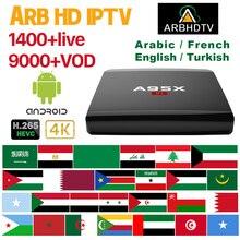 IPTV France Arabic A95XR1 Box 1 month IPTV Morocco Turkey IPTV Subscription Android TV Box 4K Belgium IPTV France Full HD Arabic