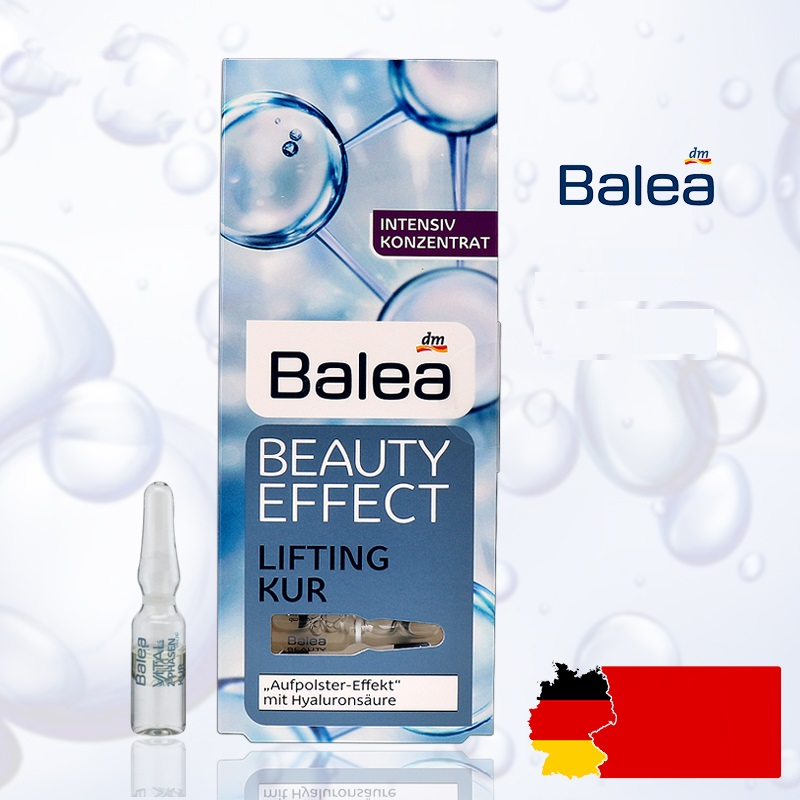 Germany 1PCS Balea Hyaluronic Acid serum Beauty Effect Lift Treatment Booster Ampoules Face Neck Essence Moisturizing injection germany balea beauty effect wrinkle filler hyaluronic acid serum moisturizing essence lifting effect vegan paraben free