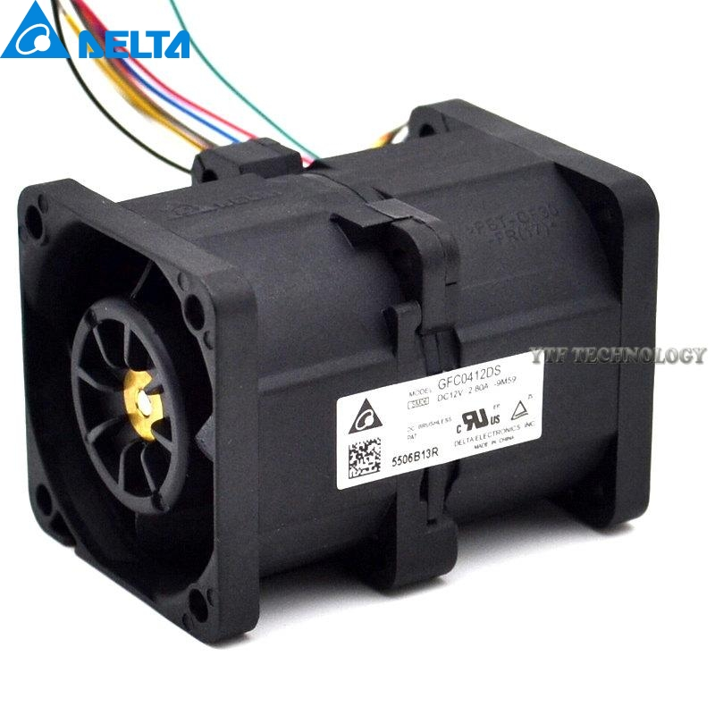 Delta New GFC0412DS 33w 4056 2.8A 4CM dual motor scooter booster fan violence for  40*40*56mm cudgi футболка поло cudgi cts15 1419 синий белый
