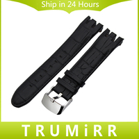 Top Layer Genuine Leather Watchband 21mm For Swatch YRS401 402G 403 406G 412 418 Watch Band