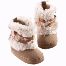 0037cac3f975 Hot Pink Khaki White Red shoes for baby girls Soft Sole anti-slip Snow Boots