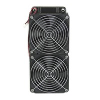 HOT 1pc 240mm Aluminum Computer Radiator Water Cooling Cooler 2 Fans Fr CPU Heatsink