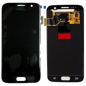 Image 5 - Amoled לסמסונג גלקסי S7 G930A G930F SM G930F LCD תצוגת מסך מגע Digitizer עצרת החלפה עם לשרוף צל