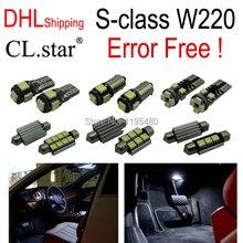 24 шт. Х Ошибка бесплатный LED Интерьер Свет Комплект Пакет Для Mercedes-Benz S-class W220 (1999-2005) с доставкой DHL