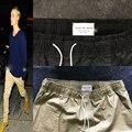 Newest Hiphop Men Black/Khaki FEAR OF GOD Fog Justin Bieber Style Skinny Slim Long Stripe Zippers Jogger  Pants