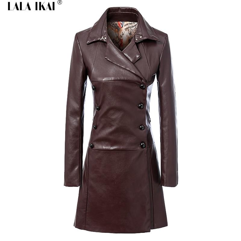 Online Get Cheap Long Leather Coats for Women -Aliexpress.com