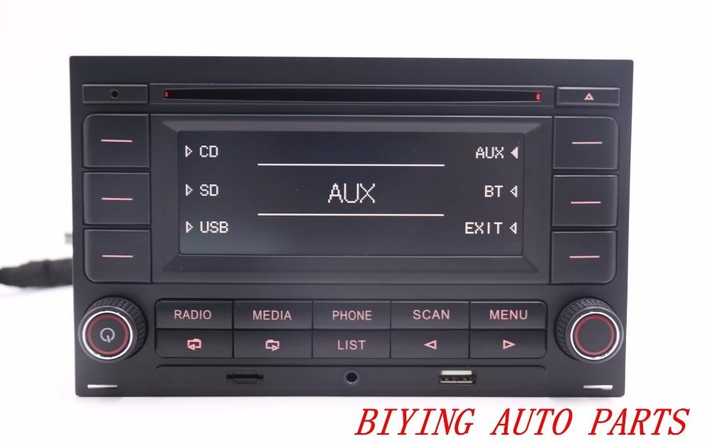 RCN210 Bluetooth MP3 USB Player CD MP3 Radio For Passat B5 Golf MK4 Jetta MK4 Polo rk522 bluetooth avtomobilnyj mp3 pleer avtomobilja radio plagin karty avtomobilnyj multimedijnyj pleer media player 12 v mp3 vosproizvedenija radio tjuner