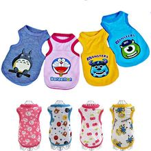 14 Styles Summer Dog Clothes Cotton Pajamas Soft Dogs Vest Duck Sweatshirt Clothes For Small Medium Pet Yorkshire Chihuahua S152