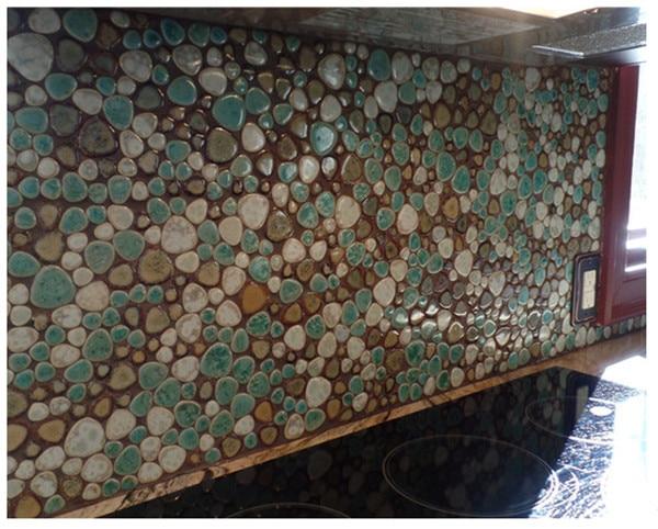 online shop heart shaped mixed color porcelain pebble kitchen