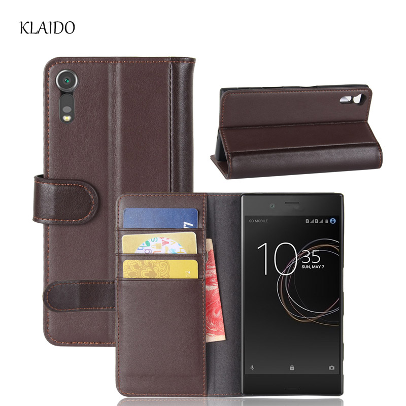 KLAIDO Genuine Cow Leather Case For Sony Xperia XZ F8332 /Xperia XZs G8232 Case Cover Hight Quality Phone Bag